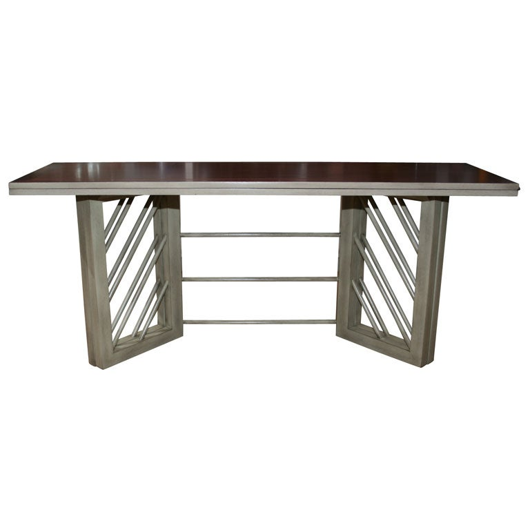 Convertible console and dining table at 1stdibs - Console convertible table ...