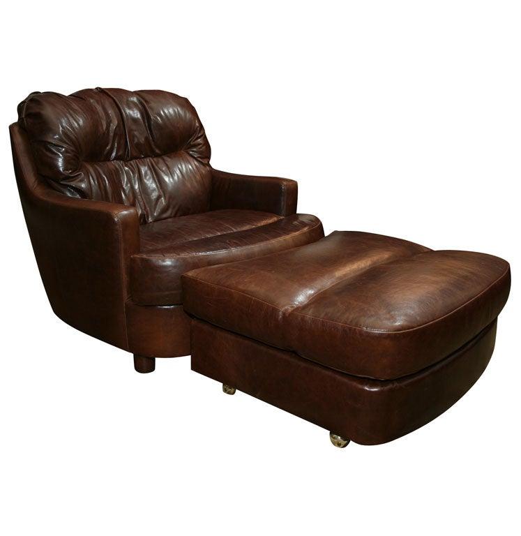 Selig Lounge Chair and Ottoman at 1stdibs