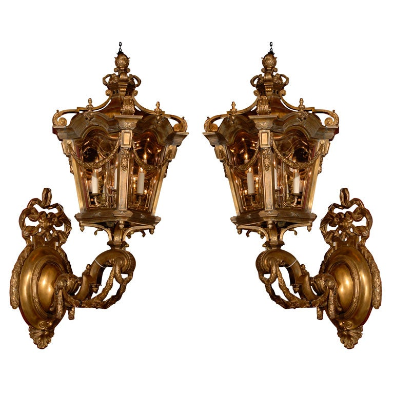 Pair of Brackets with Lanterns