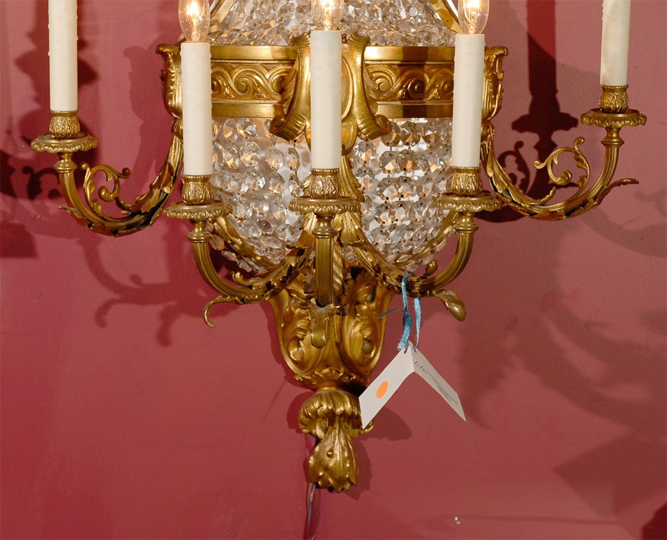 French Magnificent Pair of Wall Sconces For Sale