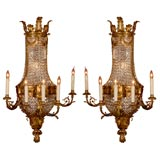 Magnificent Pair of Wall Sconces