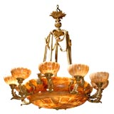Antique Alabaster Chandelier
