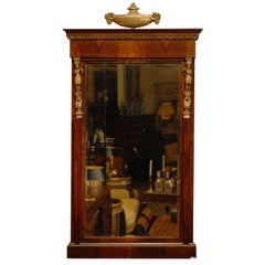 Empire Period Walnut & Gilt-wood Mirror, Early 19th Century