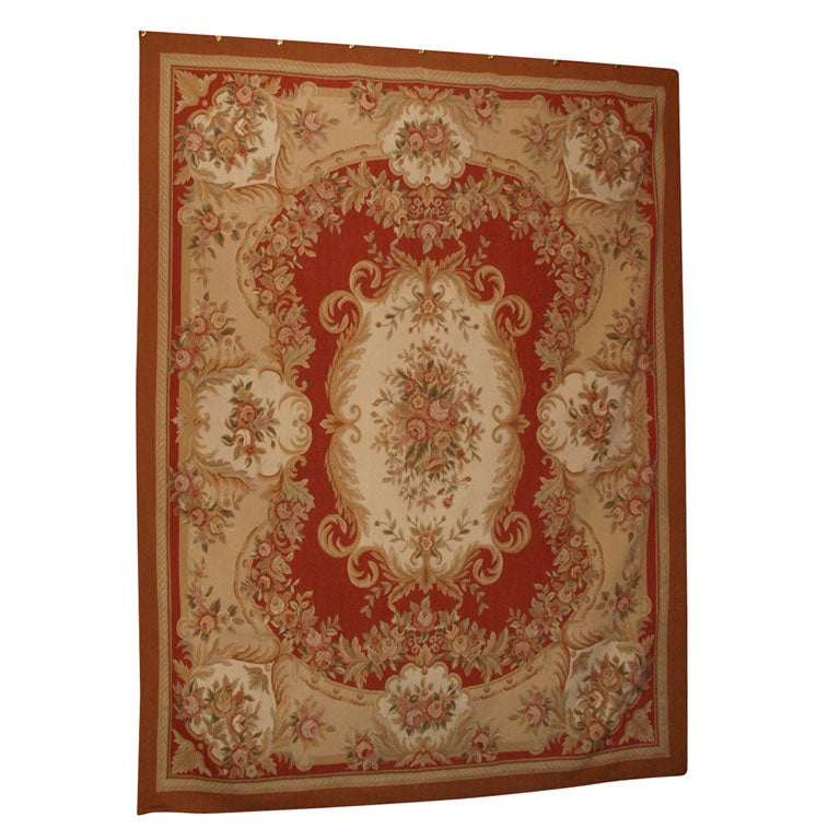Western Inspired Rugs: Aubusson Style Carpet At 1stdibs