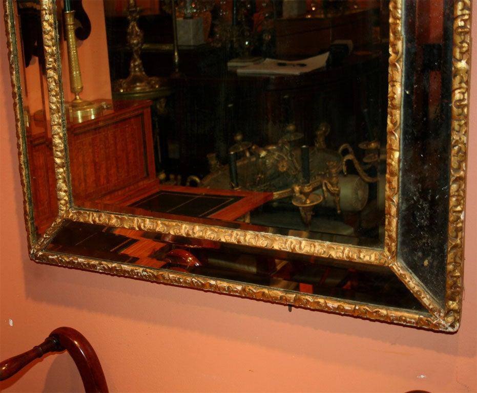 English Queen Ann Giltwood Mirror, 18th Century For Sale