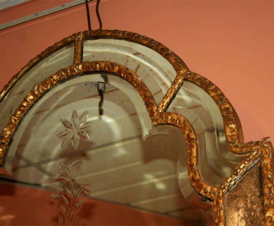 Queen Ann Giltwood Mirror, 18th Century For Sale 1