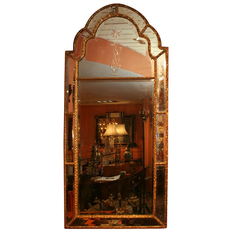 Queen Ann Giltwood Mirror, 18th Century