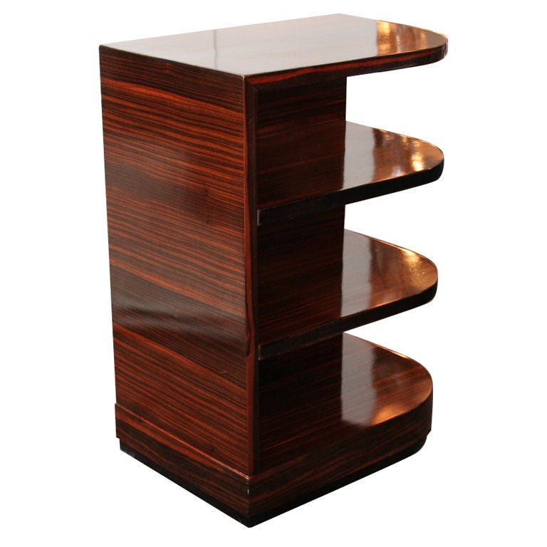Faye toogood element table - Art Deco Macassar Four Tier Side Table At 1stdibs