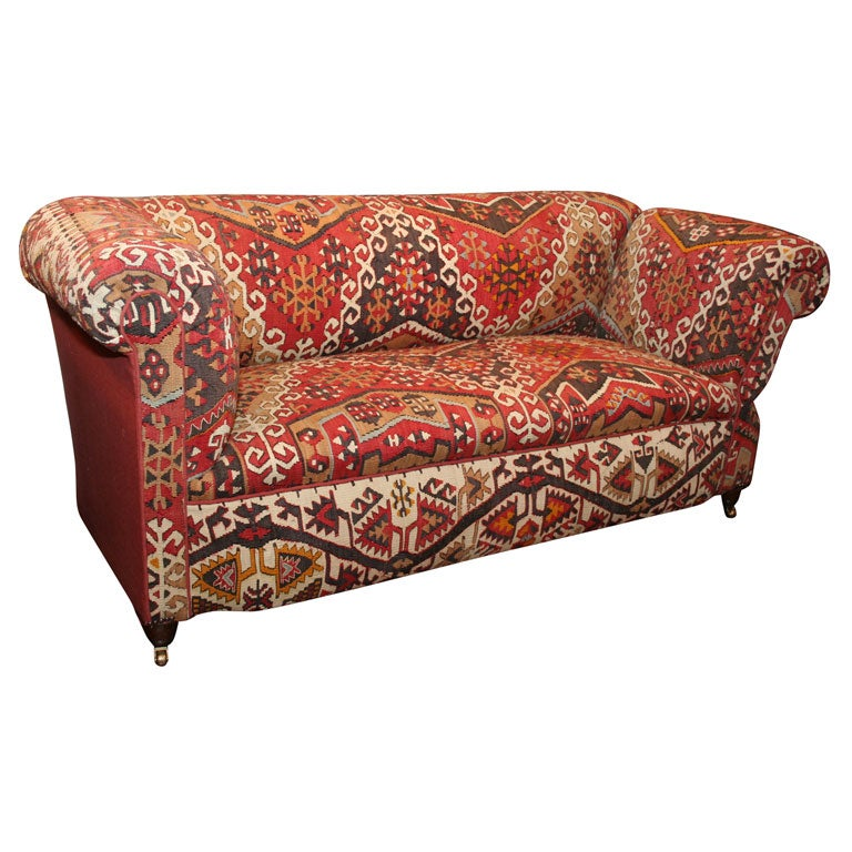 antique kilim covered sofa  convertible day bed at 1stdibs