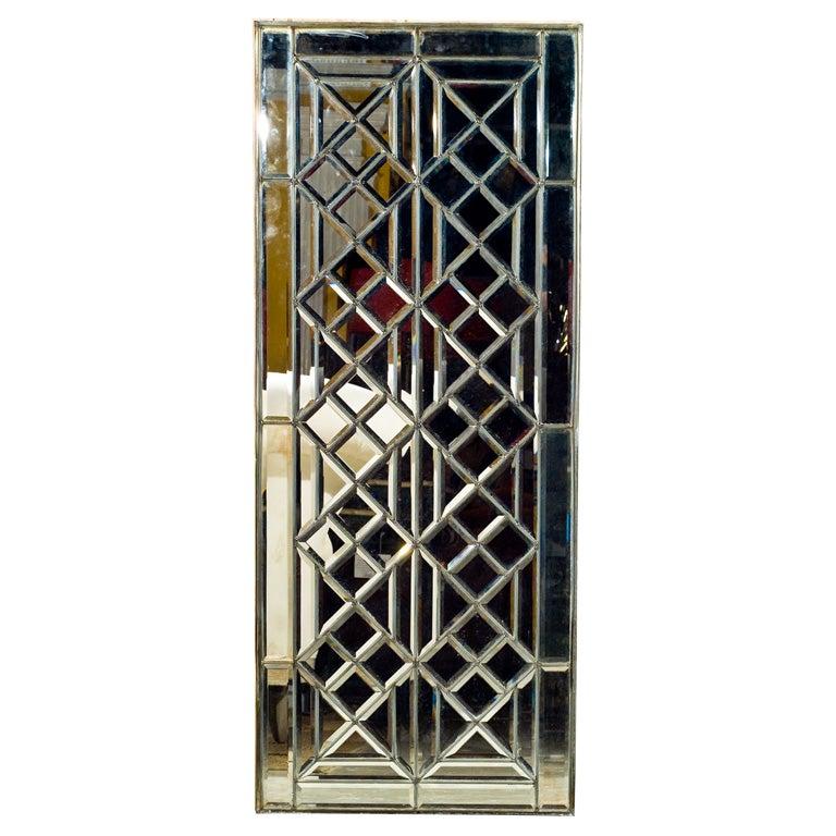 Custom leaded beveled mirror panels at 1stdibs for Custom mirrors