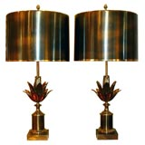 """Maison Charles """"Lotus"""" Table Lamps"""