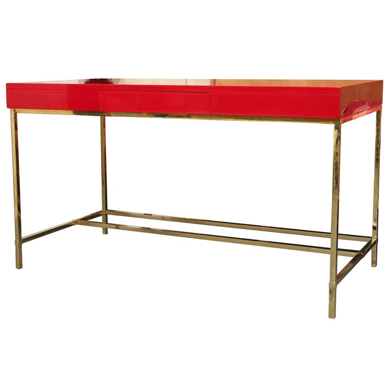Antony Todd Collection Custom Lacquered Desk with Brass  : xIMG3524 from 1stdibs.com size 768 x 768 jpeg 32kB