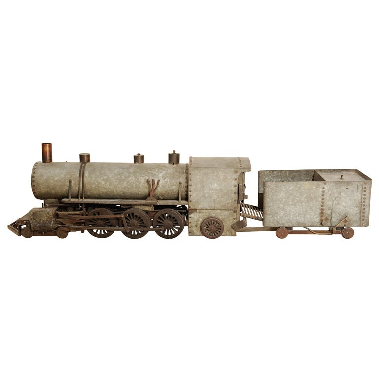 1930's Zinc and Iron Folk Art Train Model