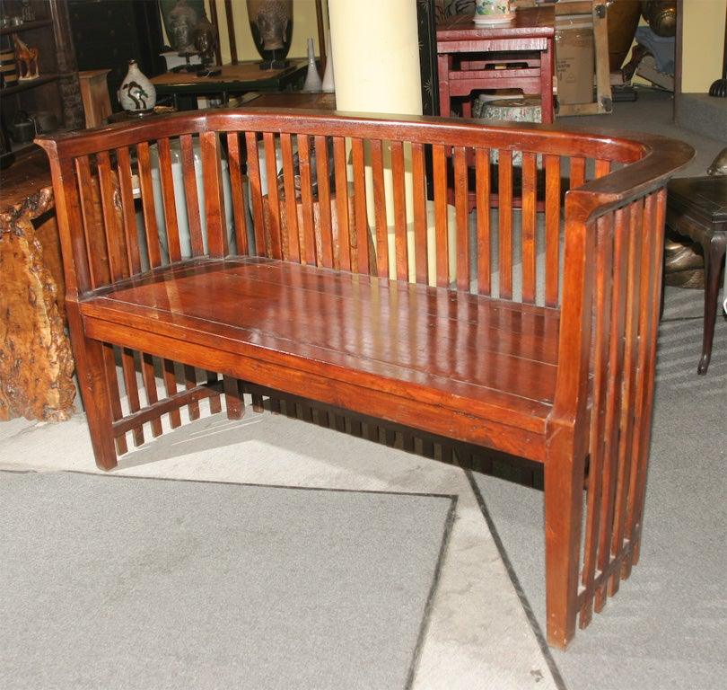 Italian Sofa Jakarta: Indonesian Dutch Colonial Arts And Crafts Sofa Bench