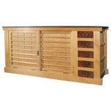 Japanese Meiji period slat top console buffet sideboard cabinet
