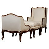 Early 19th Century French Duchesse Brisee in Walnut
