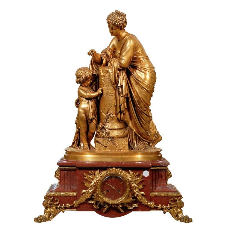 Antique Figural Clock