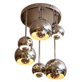 Chrome Ball Cascade Ceiling Light