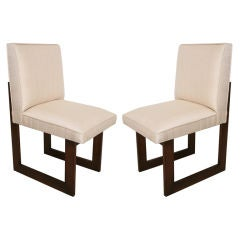 "Pair of Vladimir Kagan ""Nobu"" or ""Cubist"" Chairs"
