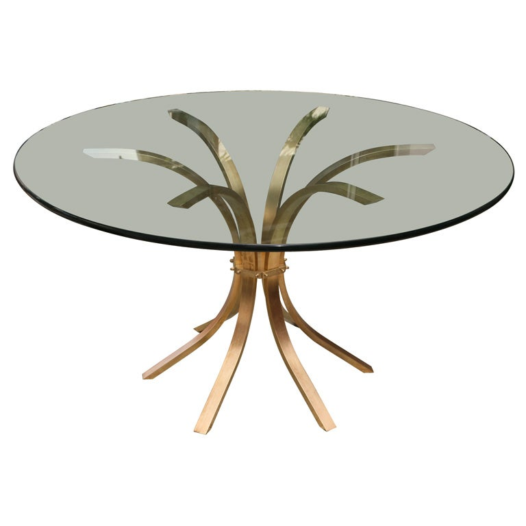 60s Solid Brass CenterDining Table at 1stdibs : xIMG8666 from www.1stdibs.com size 768 x 768 jpeg 31kB
