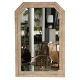 Pair of Fossil Stone and Brass Mirror by Maitland Smith