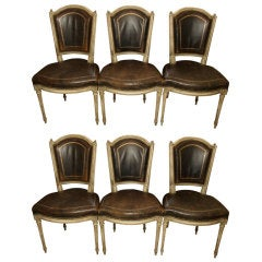 Six Louis XVI Style Dining Chairs