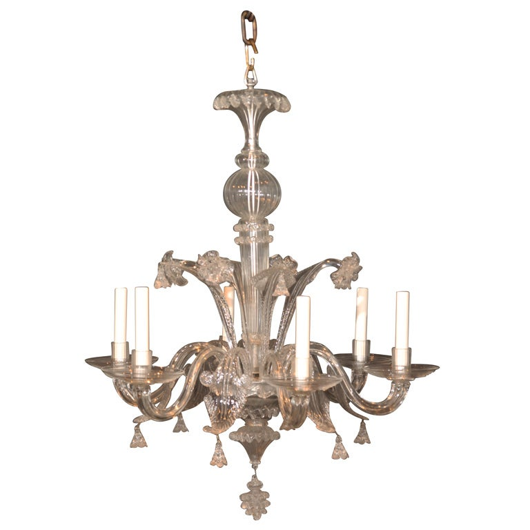 Venetian Glass Chandelier At 1stdibs
