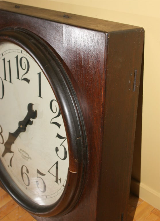 American Large time punch clock. For Sale
