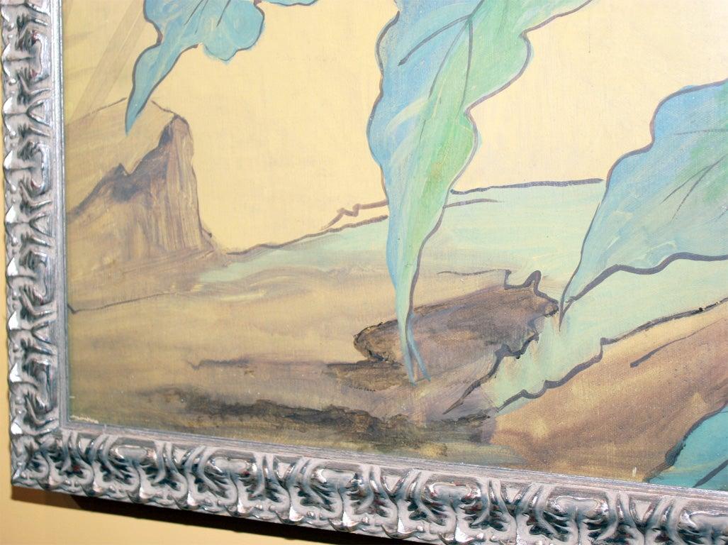 Framed Wallpaper Fragment For Sale at 1stdibs