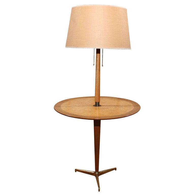 tripod floor lamp table by edward wormley for dunbar. Black Bedroom Furniture Sets. Home Design Ideas