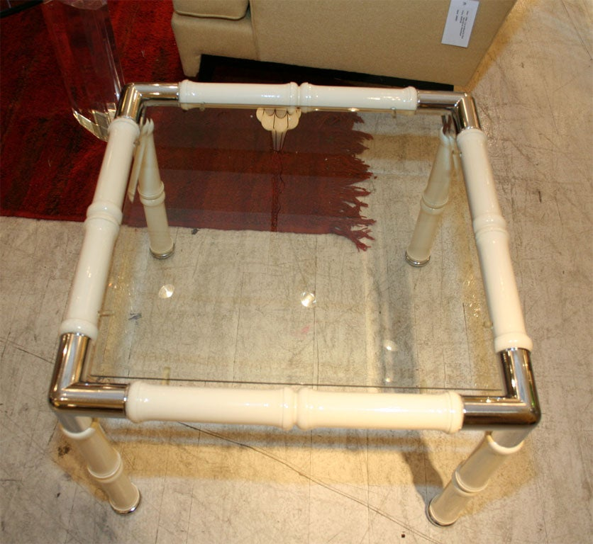 Faux Bamboo Side Tables For Sale 1