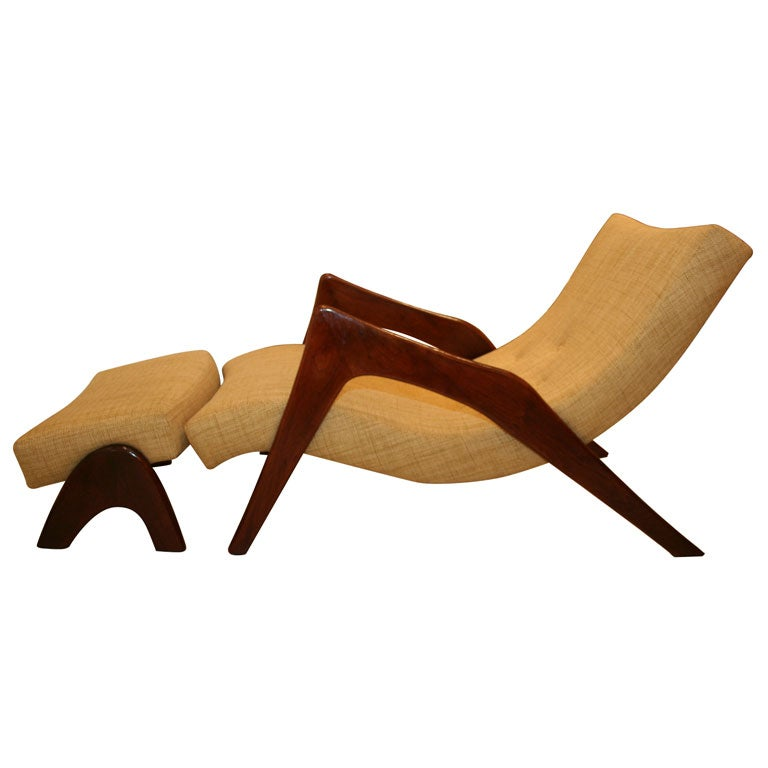 Adrian Pearsall Chaise Lounge At 1stdibs