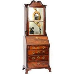 George IV Mahogany Bureau Bookcase