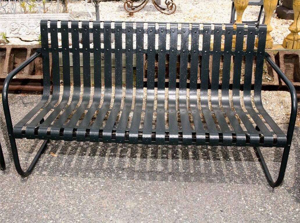 Unusual Metal Loom Outdoor Set At 1stdibs