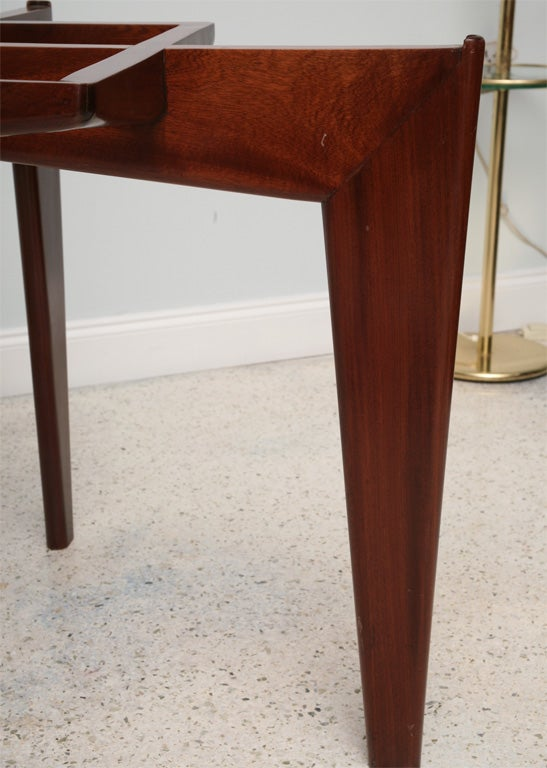 Italian Modern Mahogany and Glass Dining Table, Gio Ponti For Sale 1