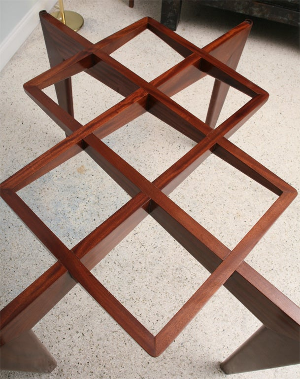 Italian Modern Mahogany and Glass Dining Table, Gio Ponti For Sale 3