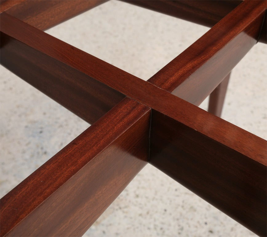 Italian Modern Mahogany and Glass Dining Table, Gio Ponti For Sale 4