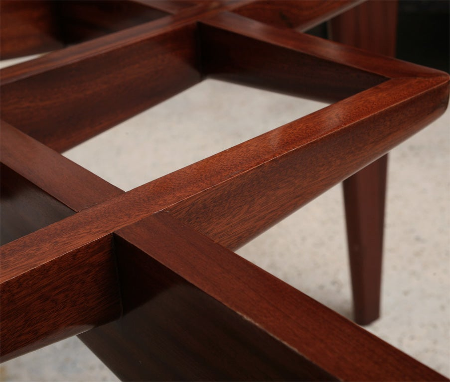 Italian Modern Mahogany and Glass Dining Table, Gio Ponti For Sale 5