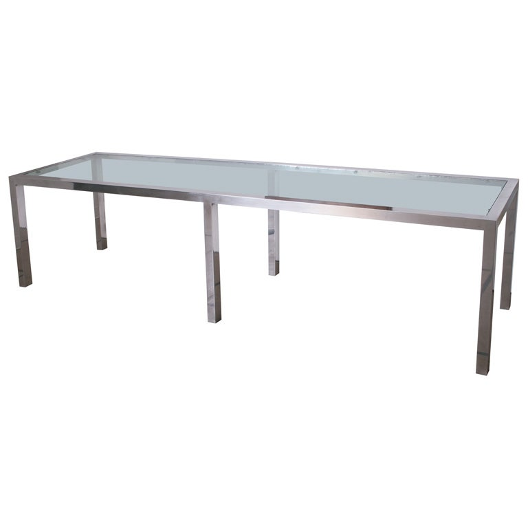Huge 114 inch aluminum console table at 1stdibs for 10 inch console table