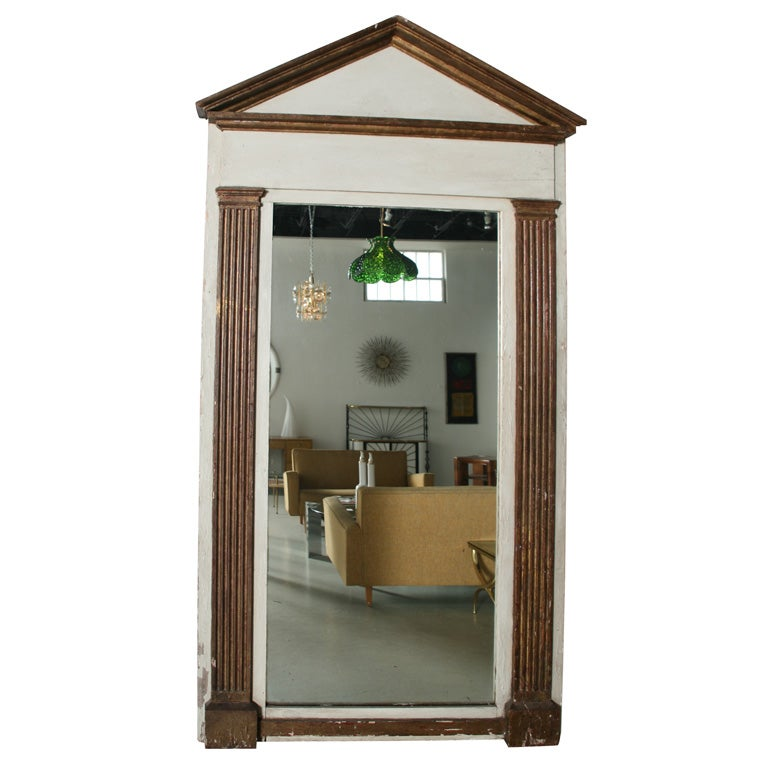 Monumental Swedish Architectural Mirror At 1stdibs