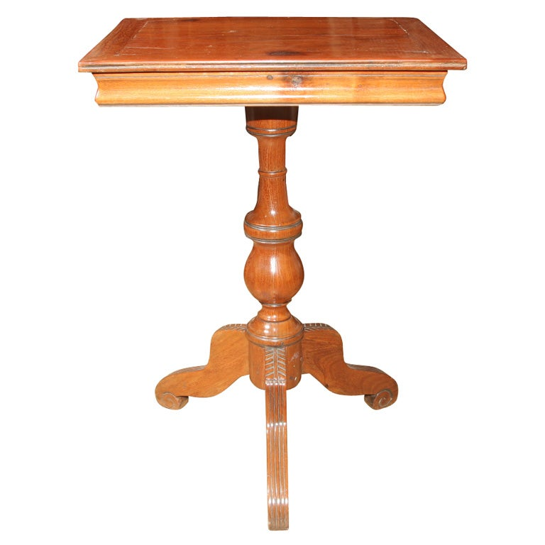 Small Pedestal Side Table At 1stdibs