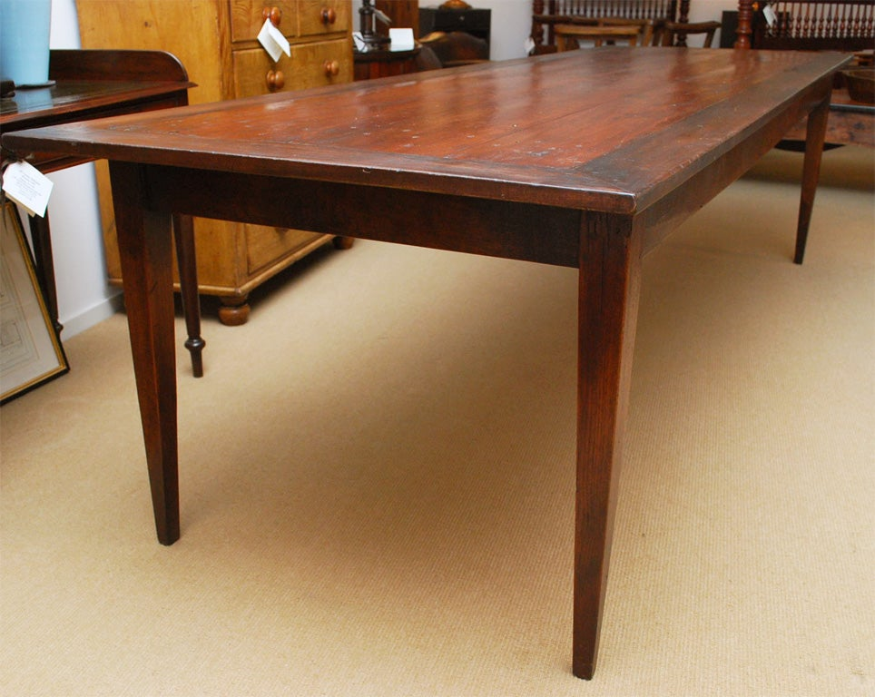 7 foot 11 inch long farmhouse dining table image 3 for Dining room tables 30 inches wide