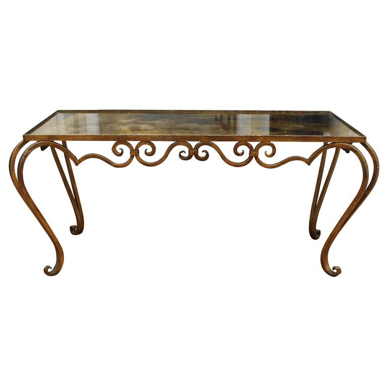 Gilded Mirror Top Coffee Table At 1stdibs