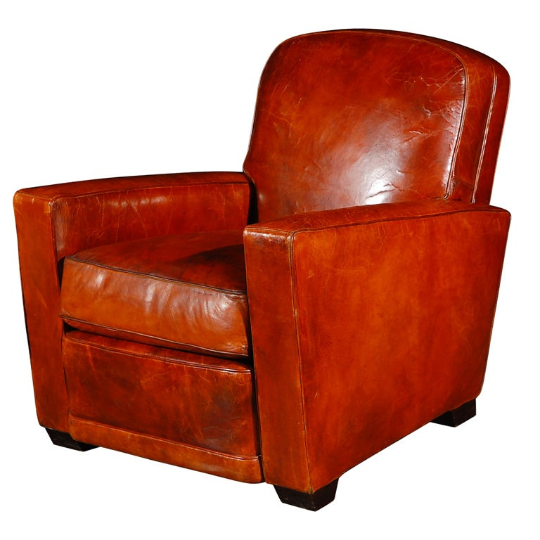Leather Arm Chair By Jean De Merry At 1stdibs