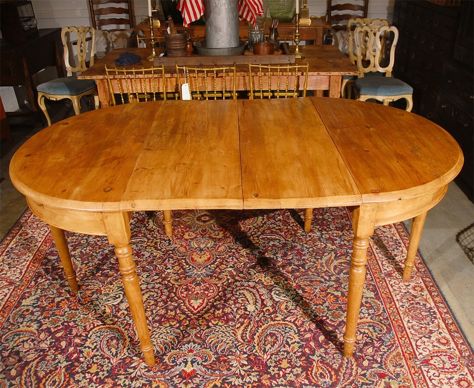 Extending Pine Dining Table At 1stdibs