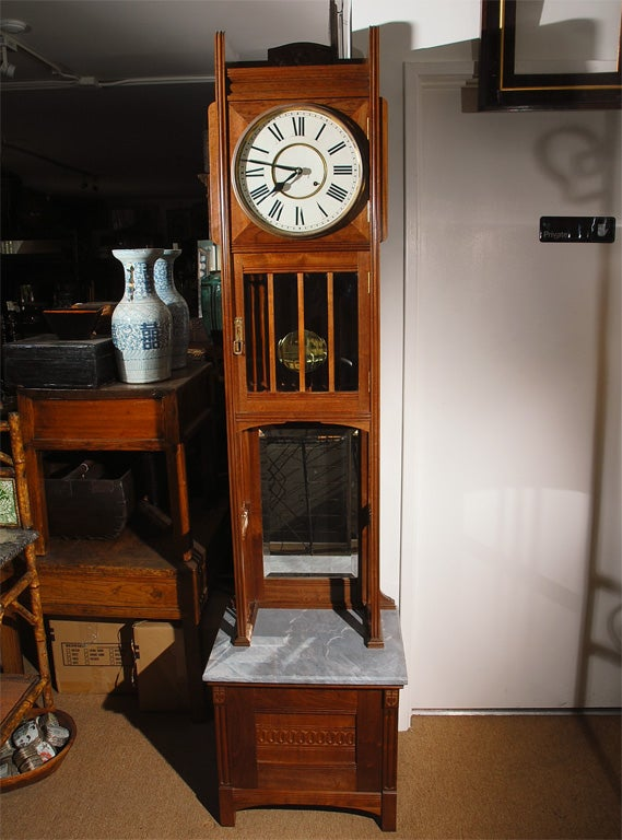 Ansonia tall case clock for sale at 1stdibs for Arts and crafts clocks for sale