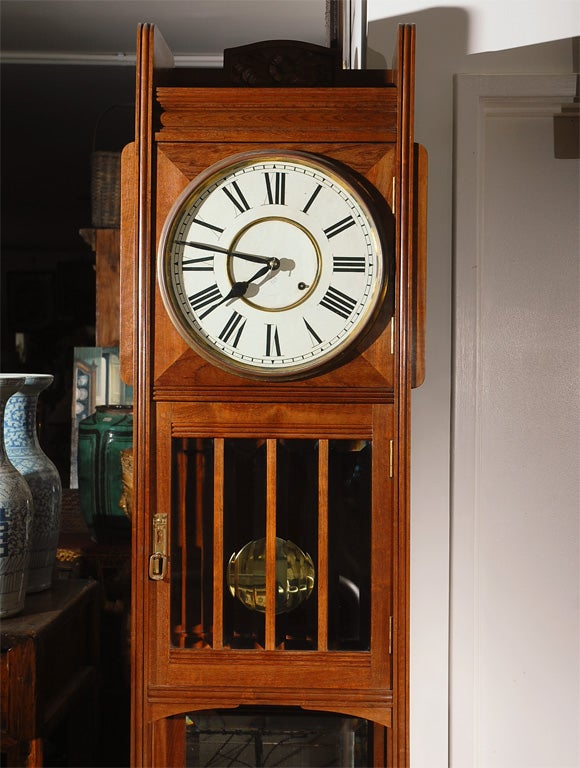 American Ansonia Tall Case Clock For Sale