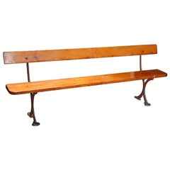 English Bench in Iron and Wood, circa 1890