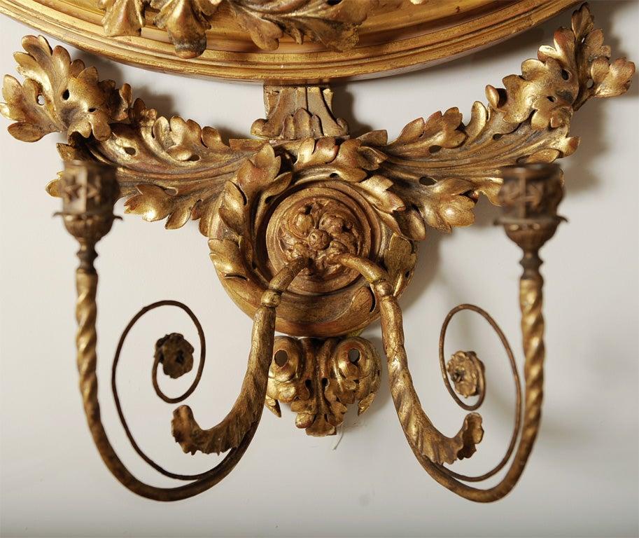 Gilt English Federal Style Dutch Convex Mirror 4