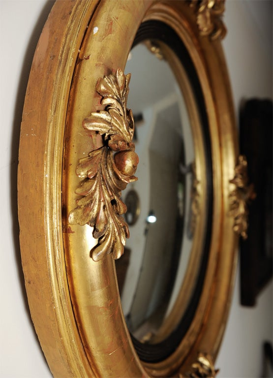 Gilt English Federal Style Dutch Convex Mirror 6